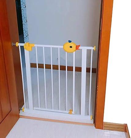 Barrera Seguridad Puerta De Seguridad Blanca para Bebés con Puerta De Paso De 90 °, Barrera Extra Alta para Perros para Puertas De Entrada De Escaleras De Cocina (Size : W 225-234cm):