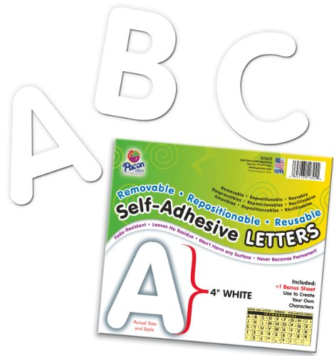Pacon Letters, 4-Inch, White-12 (0051625)
