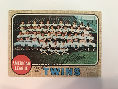 Bernie Allen Signed Autographed 1968 Topps Team Baseball Card - Minnesota Twins