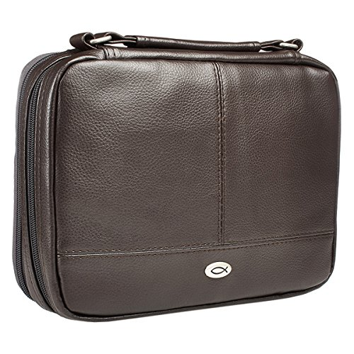 Cover Bible Brown - Two-Fold Bible Organizer (Large, Brown)