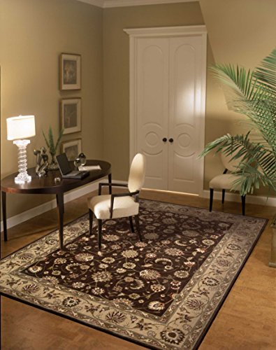 (Nourison Somerset  Brown Rectangle Area Rug, 5-Feet 3-Inches by 7-Feet 5-Inches (5'3
