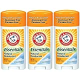 ARM & Hammer Essentials Solid Deodorant Unscented, 2.5 Oz (Pack of 3)