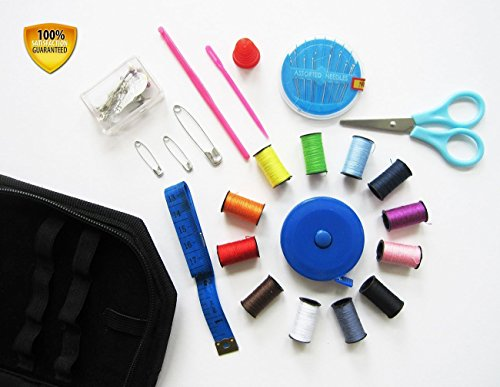 Best Professional Mini Sewing Kit for Home & Travel. Portable and Compact for Quick and Easy Emergency Repairs, Crafts or Projects. Perfect Gift. Purse, Suitcase, Glove Box, RV, Apartment, Dorm Room