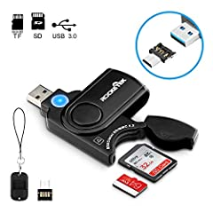 ROCKETEK - Easy Your Life Without Delay Rocketek RT-CR3A 11 in 1 SuperSpeed USB 3.0 Card Reader base on Easy portability design, with a build-in Card Cover, it is able to store the cards inside the memory card reader, and don't need to worry ...