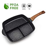 FRUITEAM Pancake Pan Nonstick Griddle 10 Inch Pancake Maker Mini Pancake and Flapjack 7 Mold Blini Pan for Son Daughter Gifts from Mom