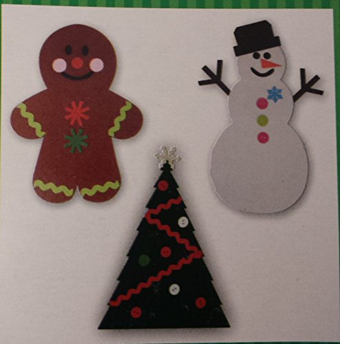 [Christmas Snowman Gingerbread Christmas Tree Felt Decorate Decor Decorations Home DIY Craft Kit Kids Toddlers Holiday Fun Design Festive 3 Piece] (Grinch Costume Diy)