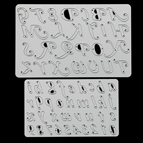 Letters and Numbers Cutting Dies Stencil Metal Merry Christmas Scrapbooking Embossing DIY Crafts