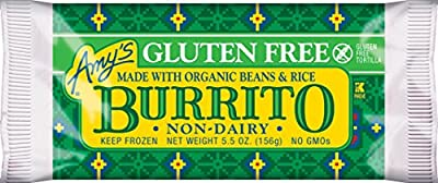 Amy's Gluten Free/Dairy Free Bean and Rice Burrito 5.5 oz, Pack of 12