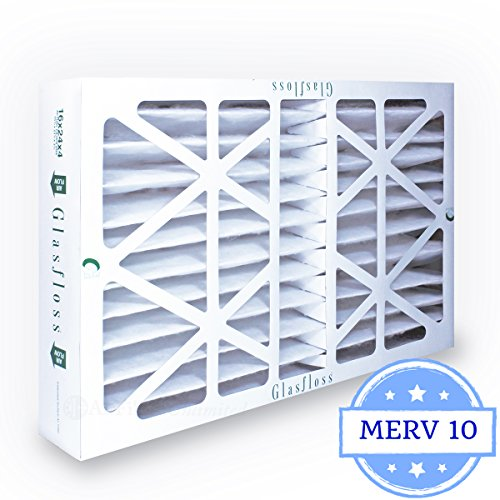 16x25x4 Air Filter MERV 10 by Glasfloss Industries Z-Line Series Pleated Filter (1-Pack) ZLP16254