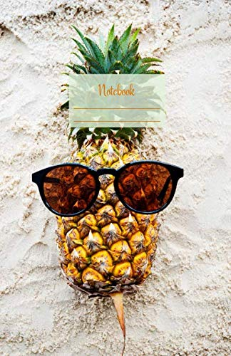 Notebook: Dotted grid Journal. Bullet Diary. Ideal for Notes, Memories, Journaling, Creative planning and Calligraphy practice. 120 Pages. Soft matte ... idea. (Pineapple wearing sunglasses ()