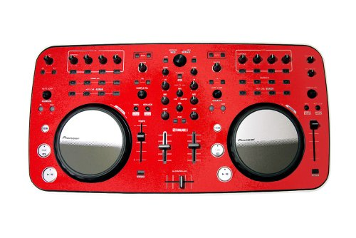 Red Protective Vinyl Overlay Skin Made To Fit Pioneer Ddj Ergo