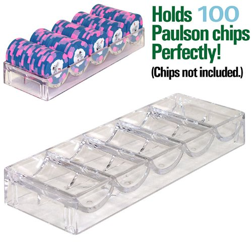 Paulson Chip Rack - TMG Set of 10 Casino Grade Acrylic Poker Chip Racks (Fits Paulson Chips) - Includes 10 Bonus Chip Spacers!
