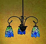 Iris 3-Light Chandelier For Sale