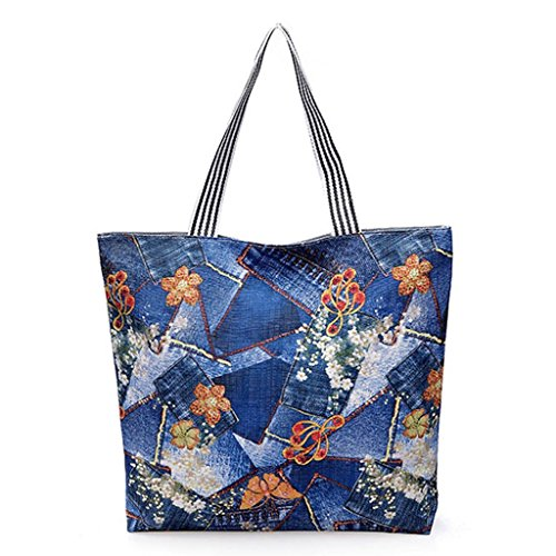 Sac bandoulière 6 Épaule Shopper Shopping 7 à Toile Beach Voyage Impression JAGENIE Toile Sac wFAXZgPqg