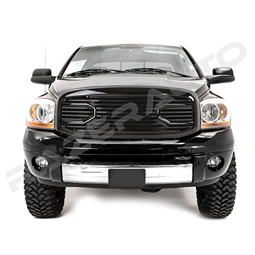 GSI 06-08 Dodge Ram 1500 + 06-09 Dodge Ram 2500/3500 Big Horn Gloss Black Grille W/Replacement Shell Packaged Grille (Black)