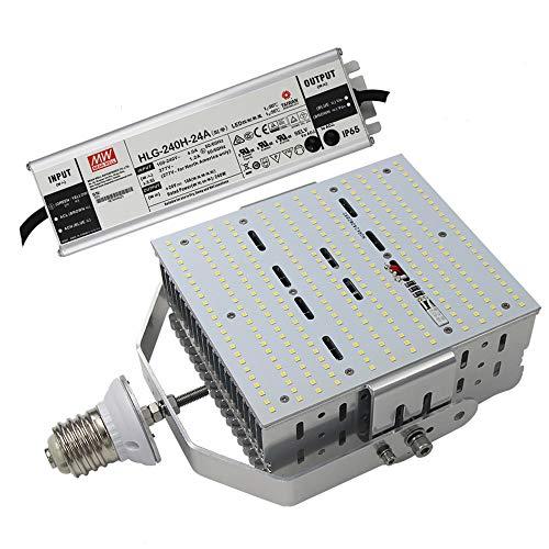 Retrofit Replacement - LED Shoebox Retrofit Kit 240W (1000W Metal Halide Replacement),SMD3030 E39 Mogul Screw Base 5700K Daylight For Parking Tennis Court Fixture