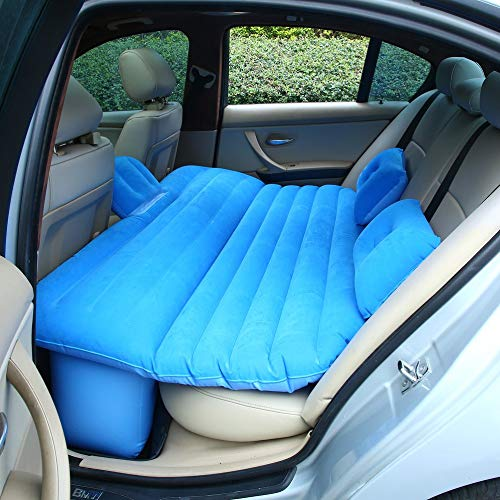 Ensteinberge CHANOBUG Impact Resistant Inflatable Mattress with 2 PCS Pillows Car Air Bed for Car Interior Flocking Ventilate Camping Pad