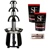 Sweet Fountains 22'' Entertainer Home Stainless Steel Chocolate Fountain with Chocolate (3.5 Lbs.)