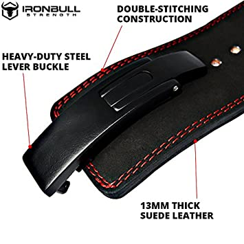 PowerLifting Lever Belt – 13mm Power Weight Belt – 4-inch Wide – Heavy Duty for Extreme Weight Lifting