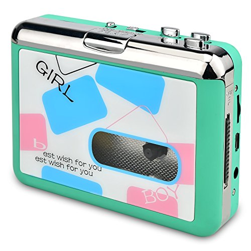 Green Portable Mp3 Cd - DIGITNOW Cassette Player-Cassette Tape To MP3 CD Converter Via USB,Portable Cassette Tape Converter Captures MP3 Audio Music,Convert Walkman Tape Cassette To MP3 Format (green)