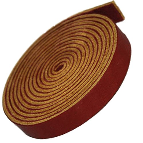 TOFL Leather Strap Burgundy 1/2 Inch Wide and 72 Inches ()