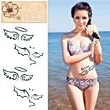 Temporary Angel Bat Tattoo Transfer Body Art Sticker Waterproof