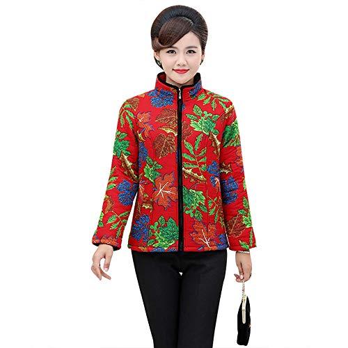 Cremallera Y Estilo De Otoño Bozevon Clásico Abrigo Invierno E Impresión Outwear Colores Calentar Chaqueta Espesar Mujer 10 TAnnwqxXR