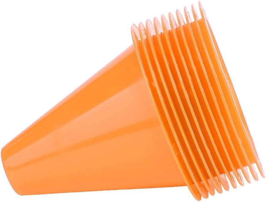 Tbest Agility Marker Cones 10Pcs Sport Training Traffic Cones Cono di Calcio per Allenamento di Calcio.