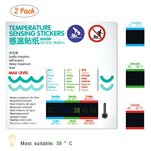 Mercury Material - Thermometer for Kids Bath Thermometer 2 Pack,Safety Liquid Crystal Material(No Mercury,No Glass),More Scientific and Accurate Data, Easy to Use,Waterproof (Water Temperature Stickers)