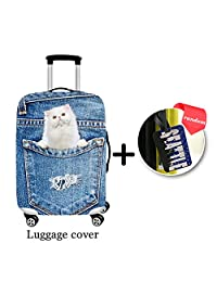 ONE 2 Spandex Colorful-designed Suitcase Cover Suitable For Almost All Sizes Luggage With Buckle (S(18-22), H2291)