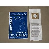 EnviroCare Replacement Vacuum Bags for Panasonic Type U / U3 Uprights. 12 Pack