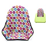 Twoworld Baby High Chair Seat Cushion Dining Chair Liner Mat Pad Cover Protector Colored dots Breathable Water Resistant