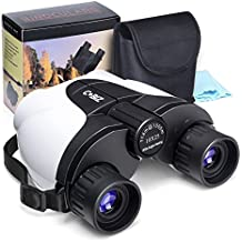 Cobiz 10x25 Outdoor Binoculars for Kids, Folding Spotting Telescope for Bird Watching, Camping and Hunting,Best Gift for Boys,Girls