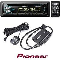 Pioneer DEH-X6800BS CD RDS Receiver AUX/USB/BT/SiriusXM W/ SiriusXM SXV300v1 Satellite Radio Connect Vehicle Tuner Kit for Satellite Radio