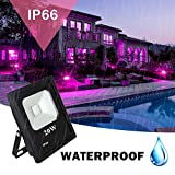 RONSHE 20W UV LED Black Light Flood Light with US