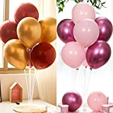 RUBFAC 7 Sets of Balloon Stand Kits, Reusable Clear Balloon Stand for Table, Including Glue, Tie Tool, Flower Clips, Table Balloon Stand Suitable for Party and Wedding