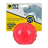 Pet Zone Rubber Dog Treat Ball Toy, Large