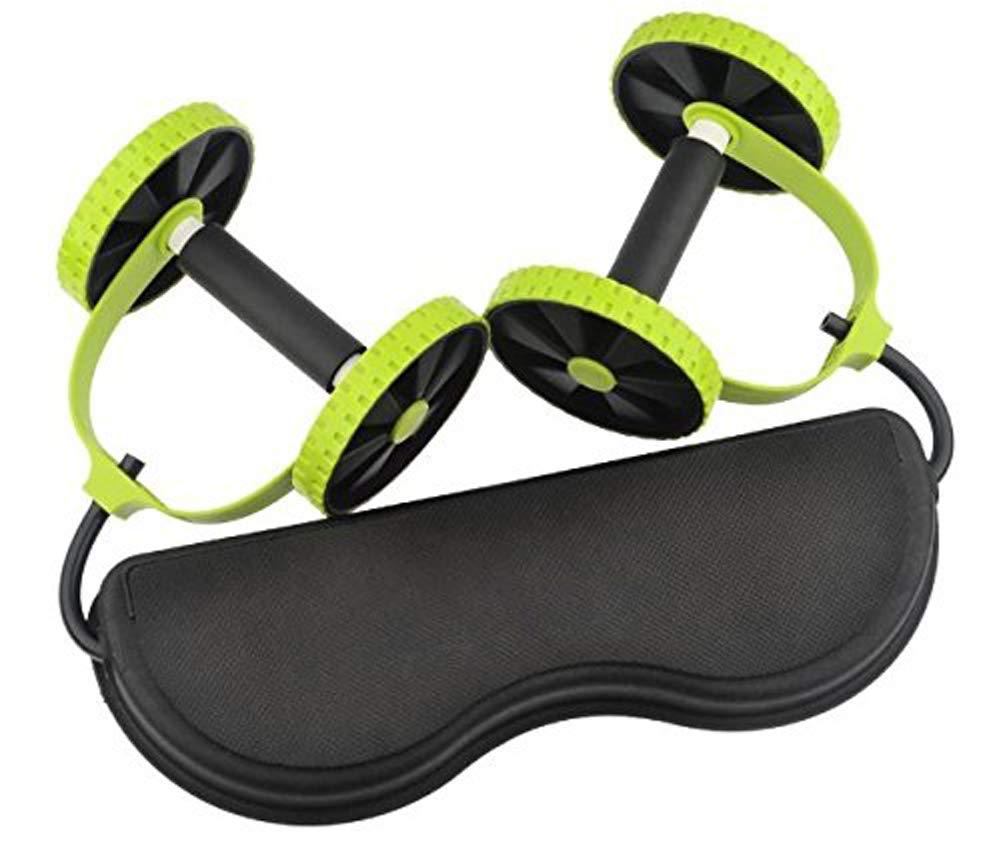 QYXANG Ab Roller, Multifunktionsübung Fitness Gesundheitswesen Core Dual Räder Ab Roller Zugseil Bauch Taille Abnehmen Trainer Training Ausrüstung