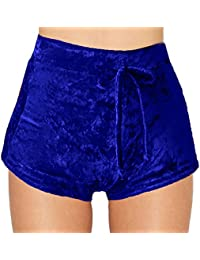 Daxin Womens Winter Velvet Soft Stretchy Shorts Clubwear...
