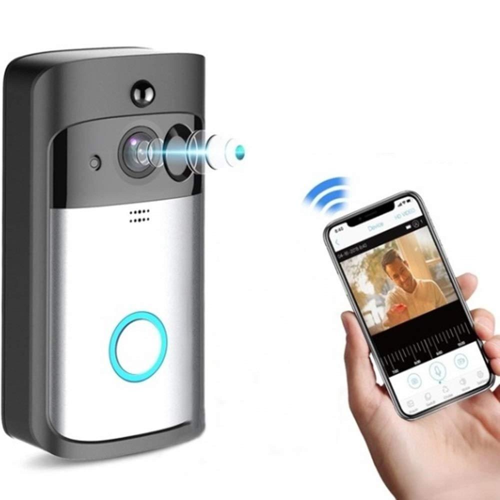 BBX Intelligente Video-Türklingel WiFi Drahtlose Türklingel-Kamera 720P HD Überwachungskamera PIR-Bewegungserkennung Nachtsicht Echtzeitvideo Zwei-Wege-Audio-Weitwinkel