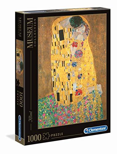 Clementoni - Puzzle Grandes museos 1000 Piezas Klimt El Beso (31442)