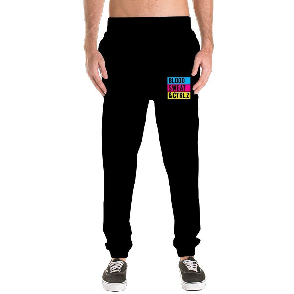 Black Black Black Kkajjhd Blood, Sweat & Ctrl + Z3 Mens Jogger Sport Pants, Casual Zipper Gym Workout Sweatpants Pockets 41695b