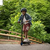 Jetson Tempo Electric Scooter, Kick to Start Motor, with Twist Throttle and Rear Foot Electric Brake, for Kids & Teens, JTEMP-BLU, Black