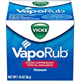 Vicks Vaporub Topical Ointment Chest Rub 1.76 Oz - (2 Pack)