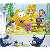 RoomMates JL1340M Ultra Strippable Bubble Guppies XL Chair Rail Prepasted Mural, 6 x 10.5-Feet