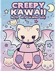 Creepy Kawaii Pastel Goth Coloring Book: Big book of 50 Cute and Creepy Creatures Coloring Book For Adults or Teenagers For Stress Relief, Relaxation, And Fun   Spocky Halloween Coloring Book