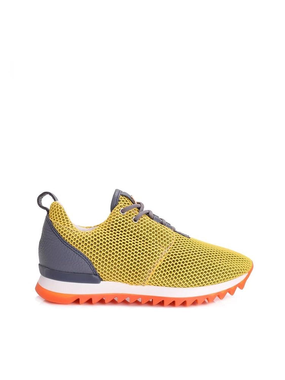 Patrizia Pepe - Zapatillas de Piel para Mujer Amarillo Shiny Yellow 39 EU