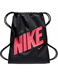 Young Athlete Drawstring Gymsack Backpack Sport Bookbag (Black Hyper Pink  Rush Signature Swoosh) e1b41489e7