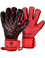 Goalkeeper, Soccer Goalie Gloves with German Latex Palm for Better Grip and Fingersaves for Ultimate Protection of Fingers