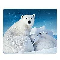 Cute Polar Bear Oblong Mouse Pad